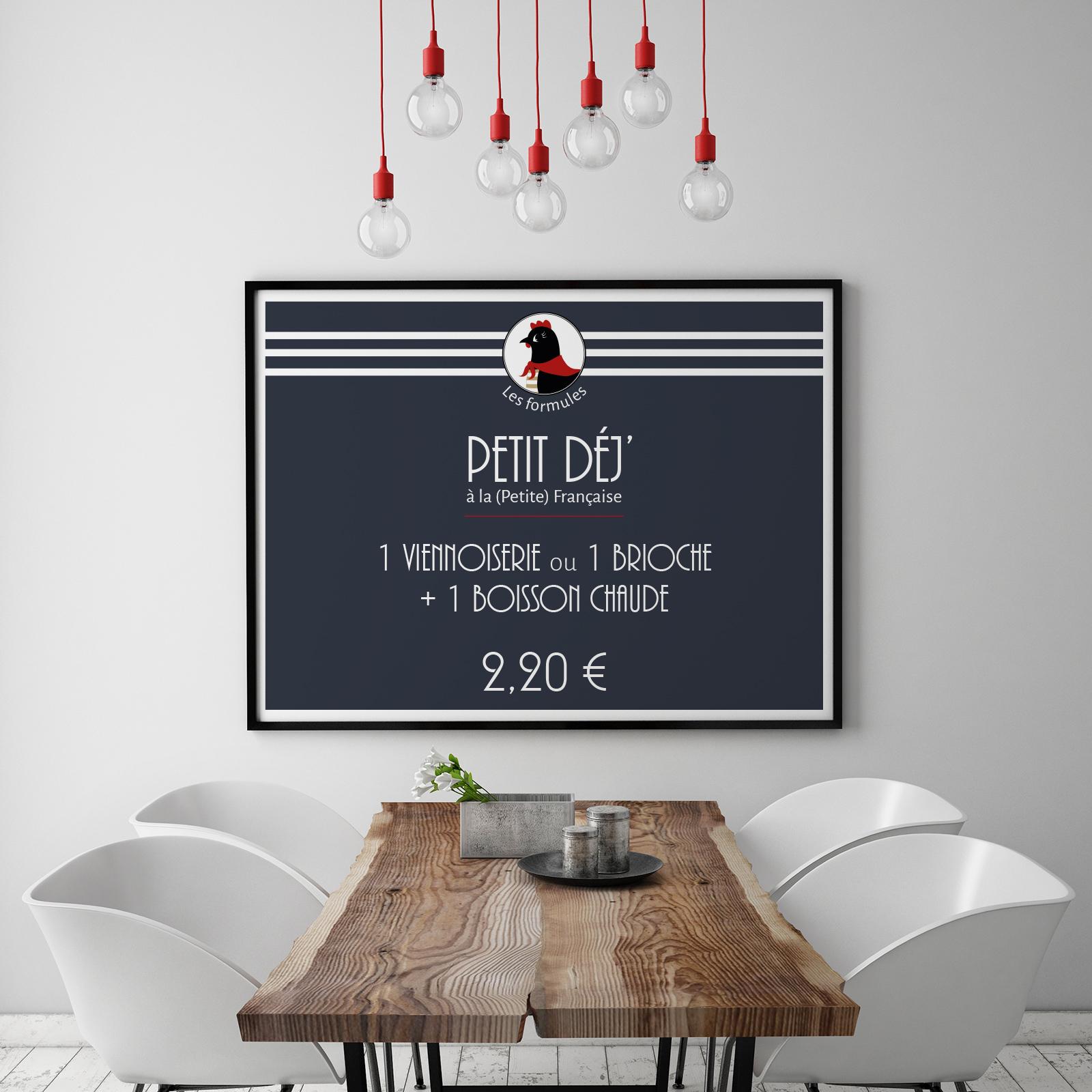 Tableau cadre La Petite Française boulangerie communication Moulin Maury GlobeWorker