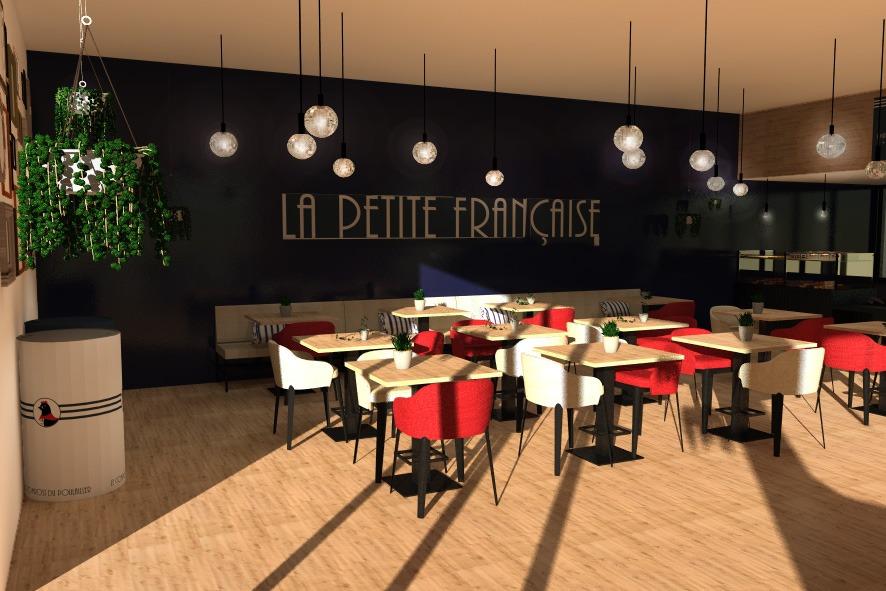 Plan 3D boulangerie la Petite Française GlobeWorker communication boulangers Moulin Maury