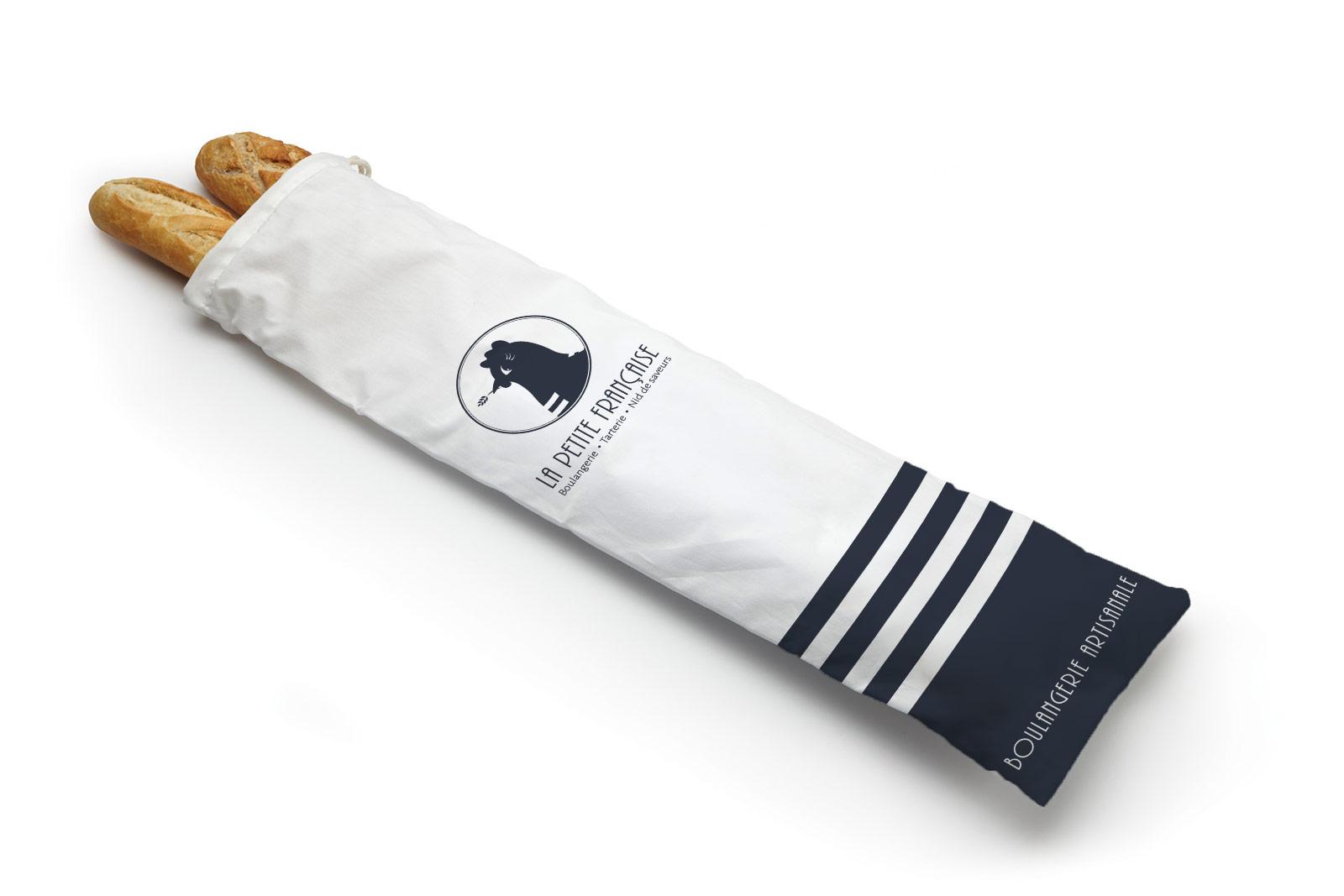 Sac à baguette La Petite Française boulangerie communication Moulin Maury GlobeWorker