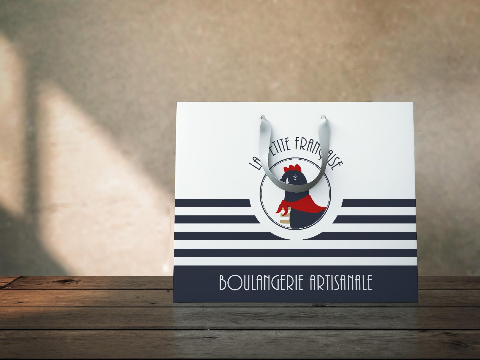 Sac en papier La Petite Française boulangerie communication Moulin Maury GlobeWorker