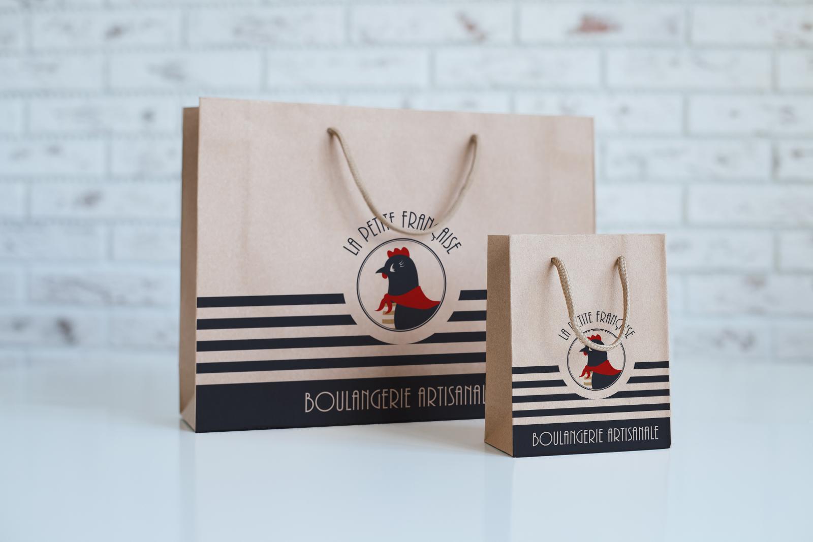 Sacs kraft La Petite Française boulangerie communication Moulin Maury GlobeWorker