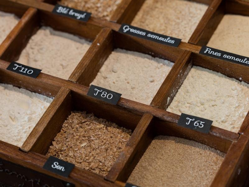 Types de farines produites par le Moulin Maury
