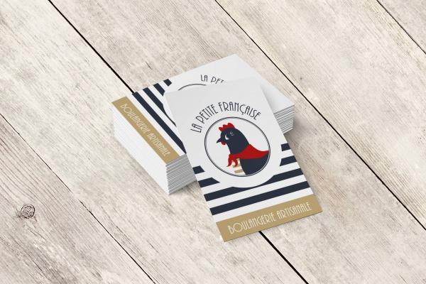 Carte de visite La Petite Française boulangerie communication Moulin Maury GlobeWorker